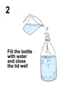 Fill with filtered water